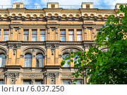 Фасад красивого старого дома. Стоковое фото, фотограф Анастасия Филиппова / Фотобанк Лори