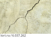 Трещина на бетонной стене. Стоковое фото, фотограф Анастасия Филиппова / Фотобанк Лори