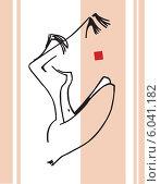 Купить «Силуэт прекрасной  обнаженной женщины», иллюстрация № 6041182 (c) Александр Чабан / Фотобанк Лори