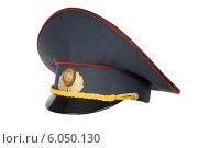 Купить «Фуражка белорусского полицейского», фото № 6050130, снято 23 июня 2014 г. (c) Голубев Андрей / Фотобанк Лори