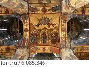 Купить «Интерьер Успенского собора Московского Кремля», эксклюзивное фото № 6085346, снято 2 июля 2014 г. (c) Дмитрий Неумоин / Фотобанк Лори