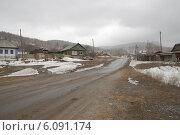 Купить «Деревенская улица зимой», фото № 6091174, снято 29 марта 2014 г. (c) Абышев А.А. / Фотобанк Лори