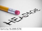Купить «Headache against pencil with an eraser», фото № 6099574, снято 17 октября 2018 г. (c) Wavebreak Media / Фотобанк Лори