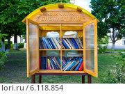 Уличная библиотека в Мосальске (2014 год). Редакционное фото, фотограф Сергей Лаврентьев / Фотобанк Лори