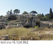 Предполагаемая гробница Архимеда в Сиракузах (2014 год). Стоковое фото, фотограф Сергей Шустов / Фотобанк Лори