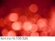 Темно-красный абстрактный фон, эффект боке. Стоковое фото, фотограф E. O. / Фотобанк Лори