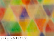 Купить «Абстрактный размытый фон с разноцветными треугольниками», иллюстрация № 6137450 (c) Екатерина Овсянникова / Фотобанк Лори