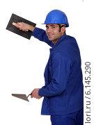 Купить «Cutout plasterer», фото № 6145290, снято 13 декабря 2010 г. (c) Phovoir Images / Фотобанк Лори