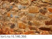 Текстура старой каменной кладки из натурального камня. Стоковое фото, фотограф Елена Ларина / Фотобанк Лори