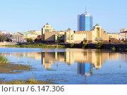 Купить «Панорама набережной города Челябинска», эксклюзивное фото № 6147306, снято 14 июля 2014 г. (c) Артём Крылов / Фотобанк Лори