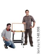 Купить «Cabinet maker and apprentice», фото № 6148998, снято 31 января 2011 г. (c) Phovoir Images / Фотобанк Лори