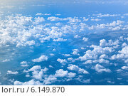 blue sky with white clouds. Стоковое фото, фотограф Syda Productions / Фотобанк Лори