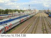 Купить «Вид на железную дорогу», фото № 6154138, снято 5 июля 2014 г. (c) АЛЕКСАНДР МИХЕИЧЕВ / Фотобанк Лори
