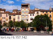 Купить «Plaza del Mercado in Logrono. La Rioja», фото № 6157142, снято 27 июня 2014 г. (c) Яков Филимонов / Фотобанк Лори