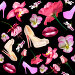 Женские штучки на черном фоне, иллюстрация № 6158986 (c) Наталья Спиридонова / Фотобанк Лори