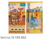 Купить «Купюра номиналом одна тысяча тенге. Казахстан.», эксклюзивная иллюстрация № 6159362 (c) Blekcat / Фотобанк Лори