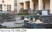 Тихий и уютный уголок Новосибирского архитектурно-строительного института (2014 год). Стоковое фото, фотограф Sergey Kiselev / Фотобанк Лори