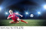 Купить «Football player», фото № 6173270, снято 27 февраля 2020 г. (c) Sergey Nivens / Фотобанк Лори