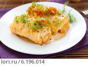 Купить «Голубцы с рисом и томатным соусом», фото № 6196014, снято 15 января 2013 г. (c) Афанасьева Ольга / Фотобанк Лори