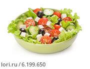 Купить «Греческий салат с сыром фета», фото № 6199650, снято 9 июля 2014 г. (c) Александр Лычагин / Фотобанк Лори