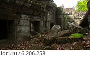 Купить «Храм Преа-Кан, таймлапс», видеоролик № 6206258, снято 16 июля 2014 г. (c) Кирилл Трифонов / Фотобанк Лори