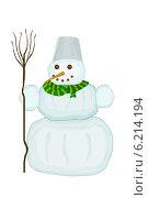 Купить «Снеговик», иллюстрация № 6214194 (c) Веснинов Янис / Фотобанк Лори