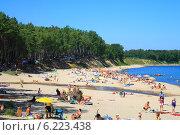 Купить «Пляж в Куликове, Калининградская область. Балтийское море», фото № 6223438, снято 19 июля 2014 г. (c) Михаил Рудницкий / Фотобанк Лори