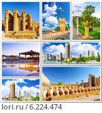 Купить «Коллаж - достопримечательности Египта. Африка», фото № 6224474, снято 23 июля 2019 г. (c) Vitas / Фотобанк Лори