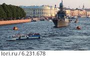 Купить «Военные корабли на реке Неве, Санкт-Петербург», видеоролик № 6231678, снято 4 августа 2014 г. (c) Кекяляйнен Андрей / Фотобанк Лори