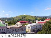 Купить «Вид на гору Лисью - символ города Нижнего Тагила», фото № 6234578, снято 4 июля 2014 г. (c) Евгений Ткачёв / Фотобанк Лори