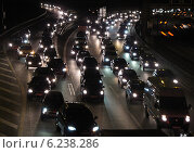 Купить «Berlin, Germany, slow-moving traffic on the motorway A 100 at night», фото № 6238286, снято 12 октября 2011 г. (c) Caro Photoagency / Фотобанк Лори