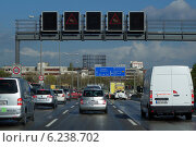 Купить «Berlin, Germany, rush hour on the A100 city motorway, southbound», фото № 6238702, снято 9 апреля 2014 г. (c) Caro Photoagency / Фотобанк Лори