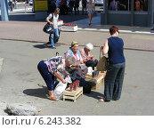 Купить «Уличная торговля ягодами около станции города Раменское, Московской области», эксклюзивное фото № 6243382, снято 2 июля 2014 г. (c) lana1501 / Фотобанк Лори