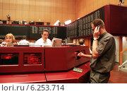 Купить «Floor trading on the Frankfurt Stock Exchange», фото № 6253714, снято 17 мая 2000 г. (c) Caro Photoagency / Фотобанк Лори