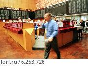 Купить «Floor trading on the Frankfurt Stock Exchange», фото № 6253726, снято 17 мая 2000 г. (c) Caro Photoagency / Фотобанк Лори