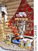 Русское чаепитие, домашний интерьер (2014 год). Редакционное фото, фотограф александр афанасьев / Фотобанк Лори