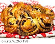 Купить «Свежие булочки с маком», фото № 6265198, снято 31 октября 2011 г. (c) ElenArt / Фотобанк Лори