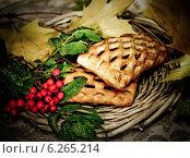 Купить «Свежая выпечка и гроздья рябины», фото № 6265214, снято 26 сентября 2013 г. (c) ElenArt / Фотобанк Лори