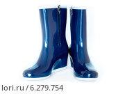 Синие резиновые сапоги с молниями. Стоковое фото, фотограф Maselko Vitaliy / Фотобанк Лори