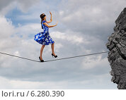 Купить «Woman in blindfold», фото № 6280390, снято 19 февраля 2019 г. (c) Sergey Nivens / Фотобанк Лори