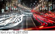 Купить «Невский проспект ночью», фото № 6287050, снято 26 июля 2014 г. (c) Артемий Усатов / Фотобанк Лори