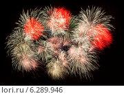 Купить «Праздничный залп салюта», фото № 6289946, снято 9 мая 2014 г. (c) Литвяк Игорь / Фотобанк Лори