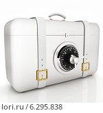 Купить «Белый чемоданчик с сейфовым замком», фото № 6295838, снято 25 февраля 2020 г. (c) Guru3d / Фотобанк Лори