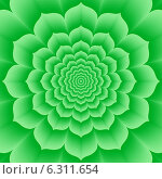Тантрическая  чакра  анахата, сердечная чакра, зеленый лотос - эмпатия. Стоковая иллюстрация, иллюстратор LVV / Фотобанк Лори