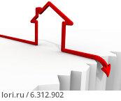 Купить «Падение цен на недвижимость. Концепция», иллюстрация № 6312902 (c) WalDeMarus / Фотобанк Лори