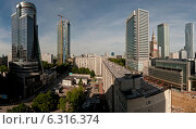 Panoramic view of Warsaw city center. Редакционное фото, агентство BE&W Photo / Фотобанк Лори