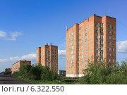 Девятиэтажки Игарки (2013 год). Стоковое фото, фотограф Любовь Афонина / Фотобанк Лори
