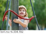 three-year girl at playground area. Стоковое фото, фотограф Яков Филимонов / Фотобанк Лори