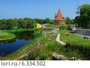 Реставрационные работы: замок, Сааремаа, Эстония (2013 год). Стоковое фото, фотограф Евгений Малахов / Фотобанк Лори