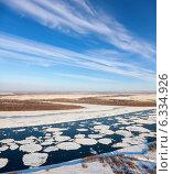 Купить «Река Обь во время ледохода», фото № 6334926, снято 6 декабря 2013 г. (c) Владимир Мельников / Фотобанк Лори